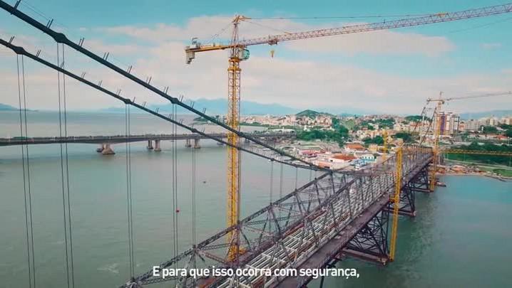 Etapa mais importante da reforma da Ponte Hercílio Luz