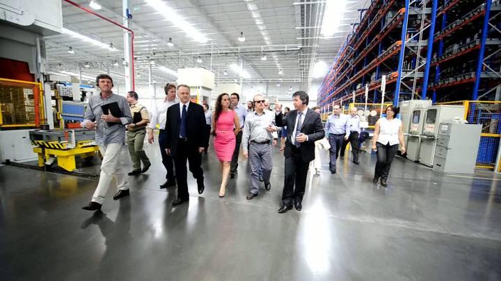 Governador Tarso Genro visita a Tramontina