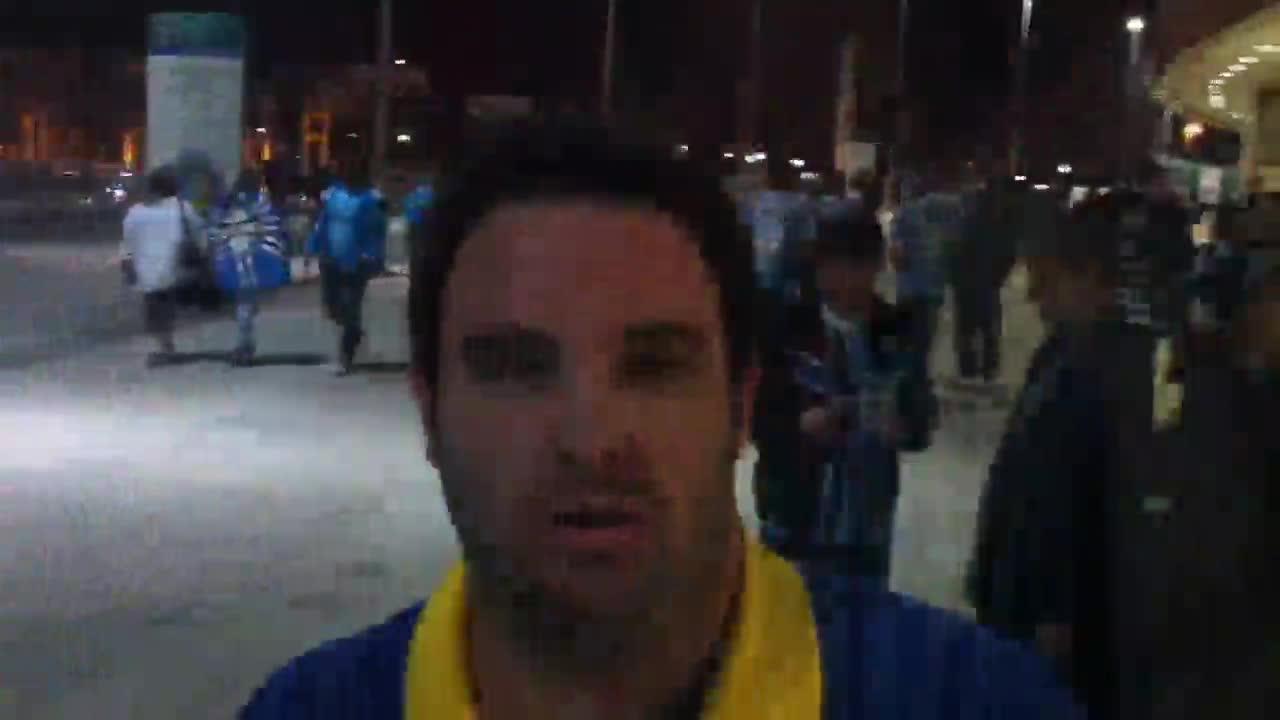 Torcida comemora vitória na Arena - 02/10/2013