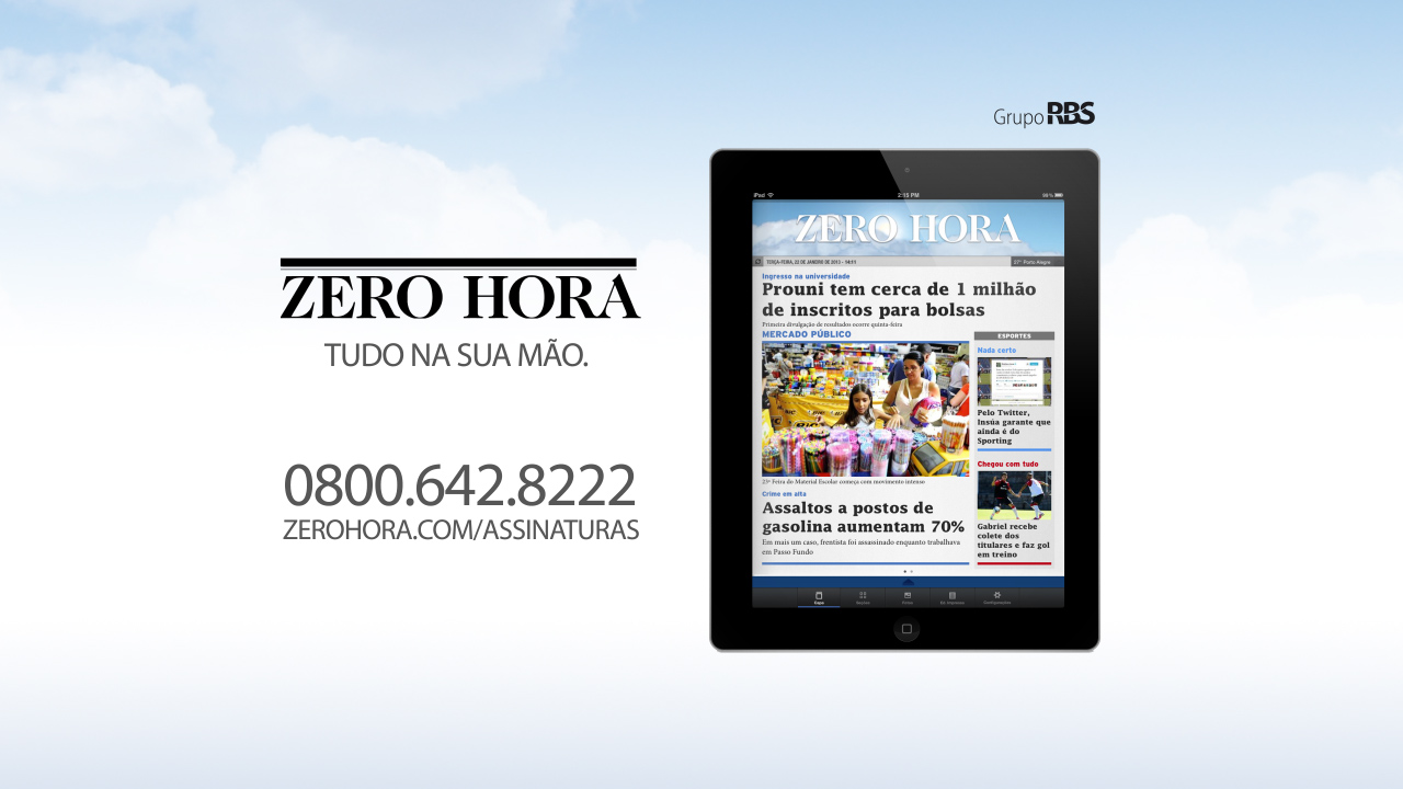 Leia na Zero Hora desta quinta-feira (26/12/2013)