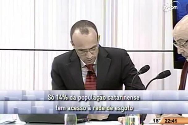 Conversas Cruzadas - Só 14% da população catarinense tem acesso à rede de esgoto - 3º Bloco - 03/10/14