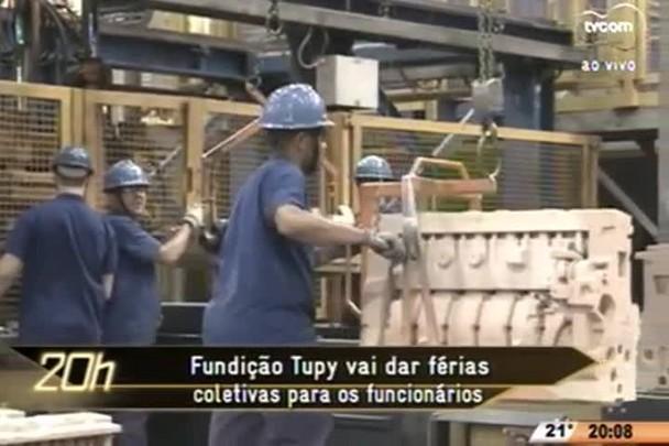 TVCOM 20 Horas - Fundação Tupy vai dar férias coletivas para os funcionários - 11.06.15