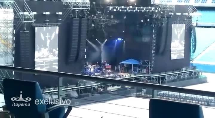 Pearl Jam toca Bob Marley durante passagem de som em Porto Alegre