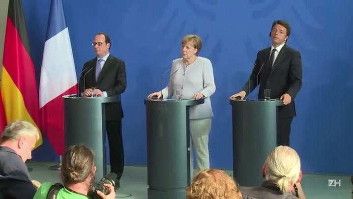 Roma, Paris e Berlim só negociam após formalização de Brexit
