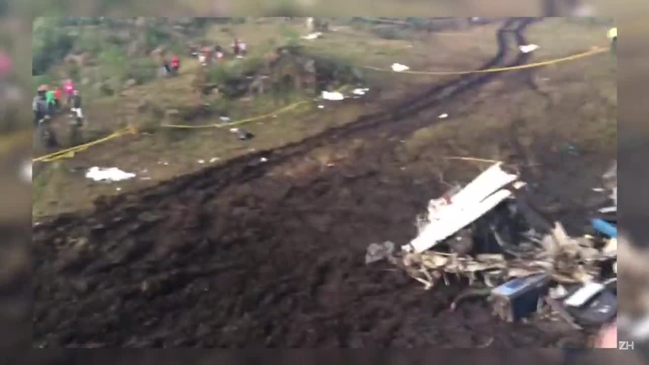 O cenário da tragédia com avião da Chapecoense