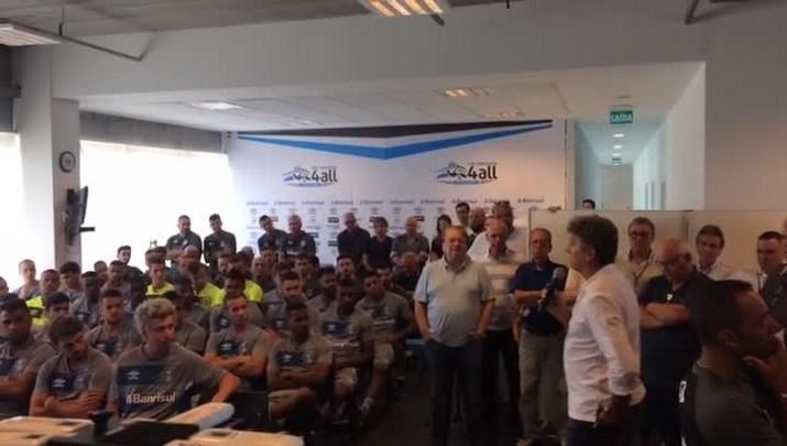 Renato elogia o grupo do Grêmio na reapresentação