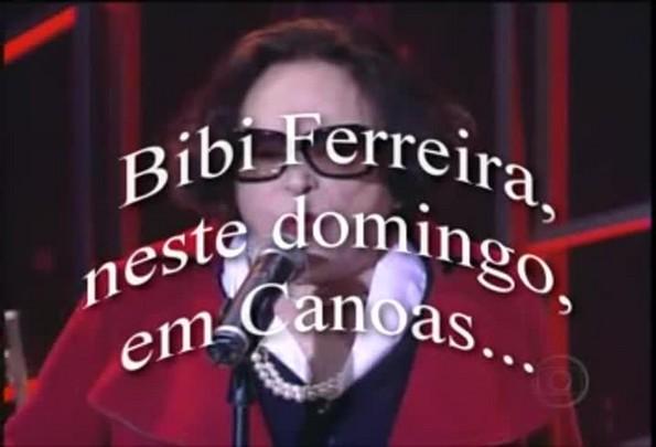 Bibi Ferreira faz apresentação em Canoas - 06/12/2013