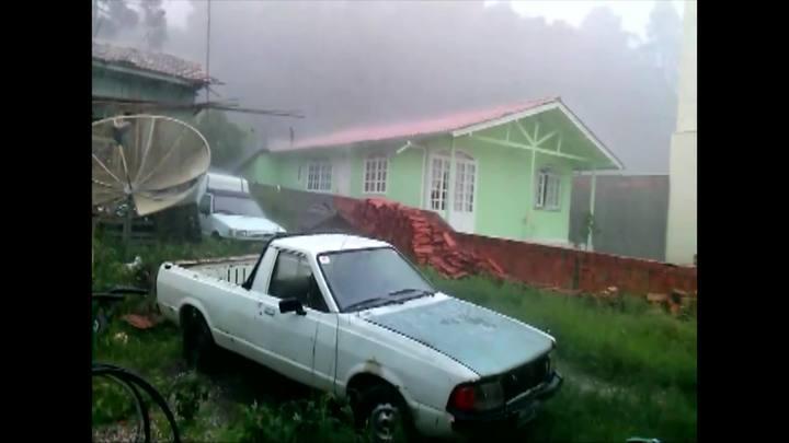 Chuva de granizo em Urubici