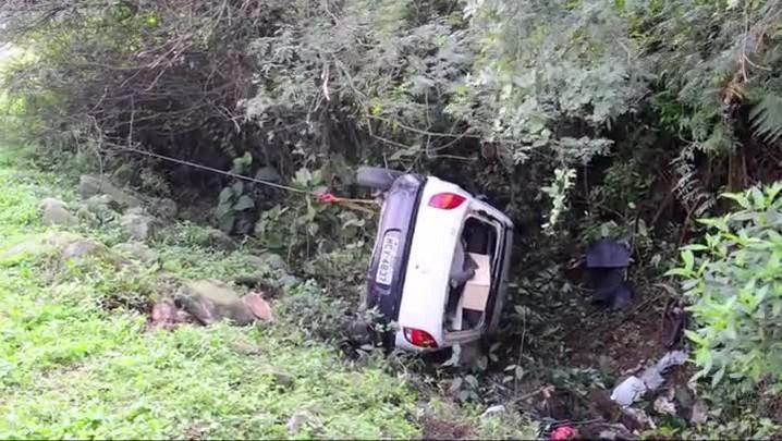 Imagens do acidente na BR 101