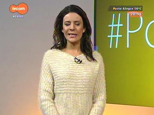 #PortoA - Fernando Muniz invade o camarim de Daniel e Paula Fernandes em show do Araújo Vianna em Porto Alegre