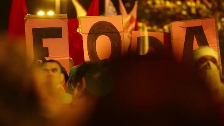 Momentos do protesto contra Temer em Florianópolis na última terça-feira (06/09/2016)
