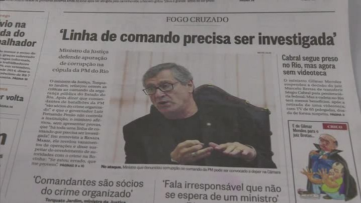 Estado do RJ vai processar Torquato