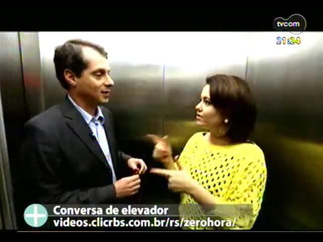TVCOM Tudo Mais - Sara Bodowsky participa do programa Conversa de Elevador, do Tulio Milman