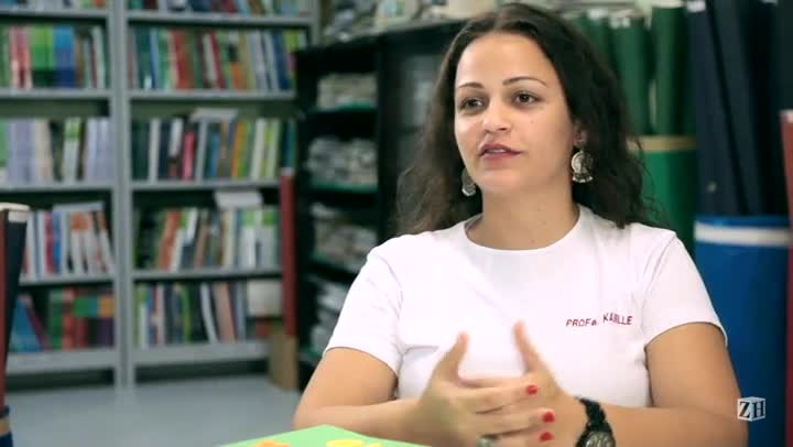 Kamille Meneses é finalista do Prêmio RBS de Educação — Para Entender o Mundo, categoria Escola Pública