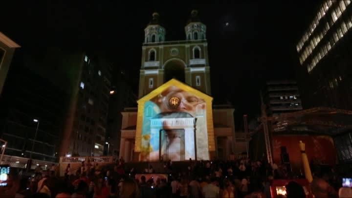 1 minuto - Projeção em 3D na Catedral Metropolitana de Florianópolis
