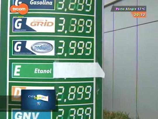 TVCOM 20 Horas - Postos de combustíveis reajustam gasolina em até R$ 0,35 em Porto Alegre - 11/05/2015