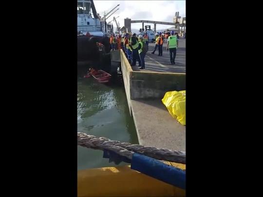 Acidente mobiliza funcionários do Porto de São Francisco do Sul
