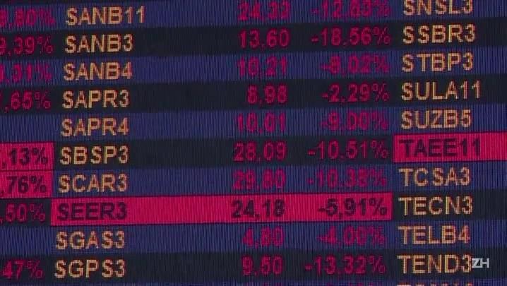 Bolsa desaba mais de 8%