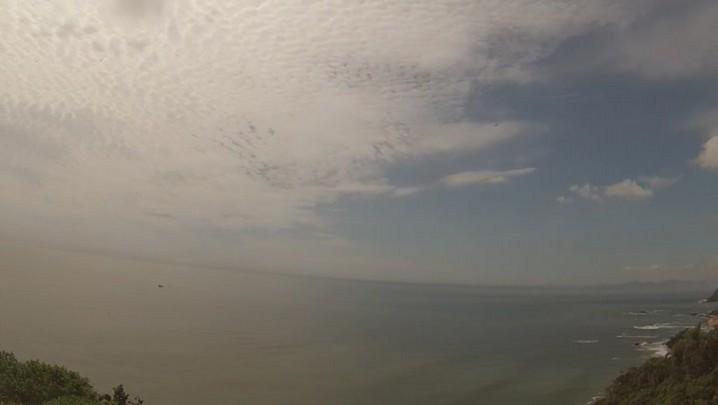 Vista do Mirante da Praia Vermelha em Penha