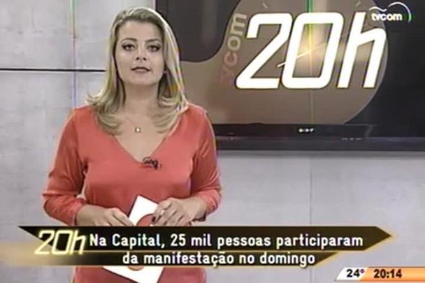 TVCOM 20 Horas - 25 mil pessoas participaram da manifestação no domingo em Florianópolis - 13.04.15