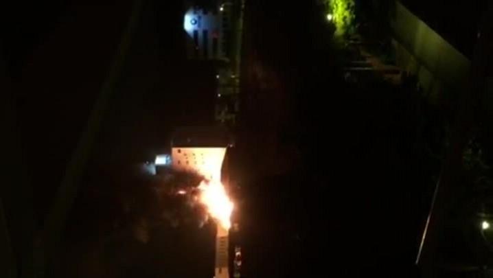 Incêndio em loja de materiais de construção em Joinville
