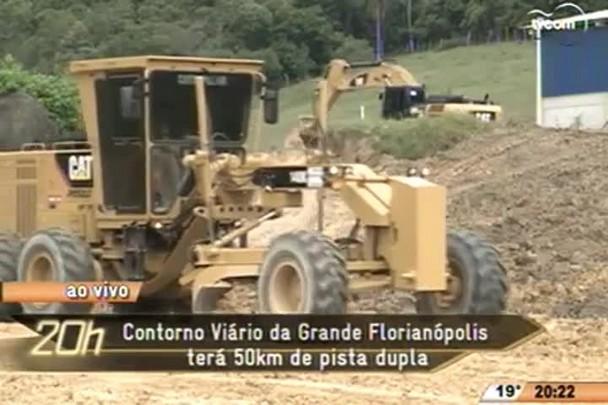 TVCOM 20 Horas - Contorno Viário da Grande Florianópolis terá 50km de pista dupla - 07.05.15