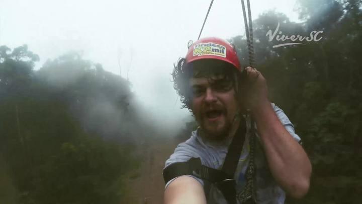 ViverSC: saltamos na tirolesa de Rodeio, no Vale do Itajaí