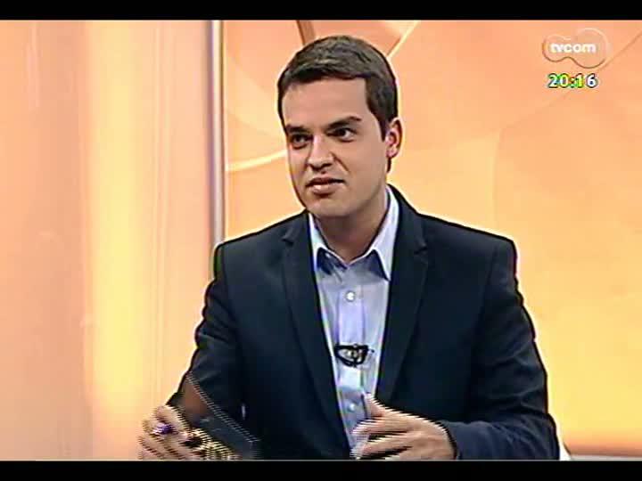 TVCOM 20 Horas - 22/01/2013 - Bloco 2 - Entrevista com o secretário da Copa em Porto Alegre João Bosco Vaz