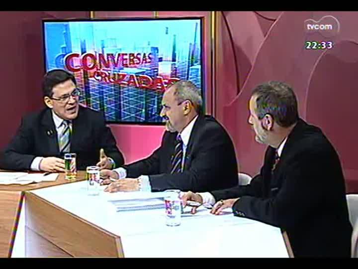 Conversas Cruzadas - Reajuste no preço da passagem de ônibus em Porto Alegre e o número de pessoas isentas de pagamento - Bloco 2 - 25/03/2013