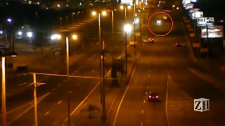 Câmeras de segurança flagram motorista embriagado dirigindo pela BR-116 na contramão