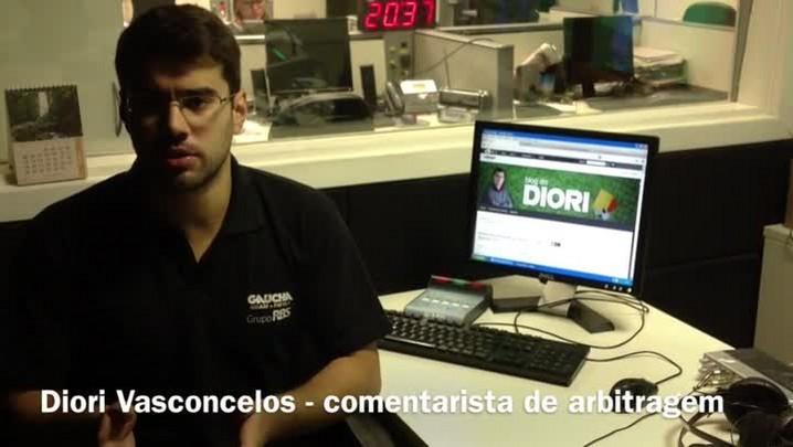 Diori Vasconcelos analisa a arbitragem de São José x Grêmio. 19/01/2014