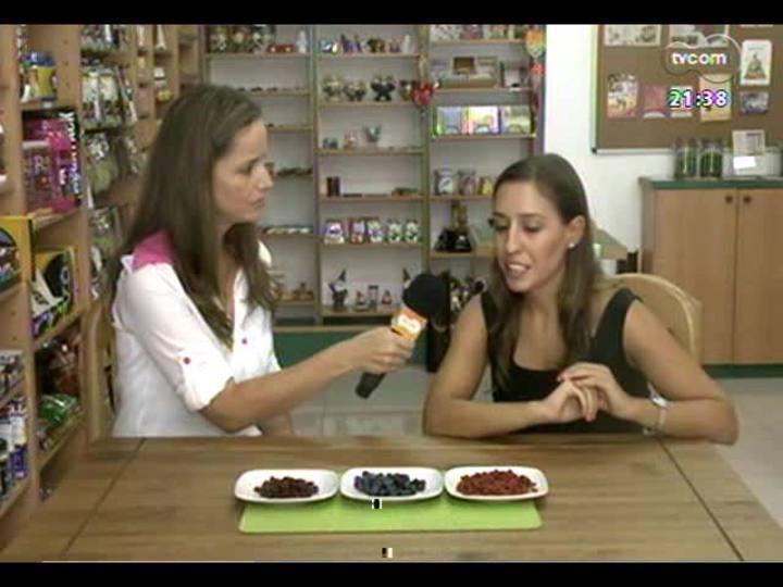 TVCOM Tudo Mais - Aline Mendes fala dos benef�cios da goji berry, cranberry e mirtilo