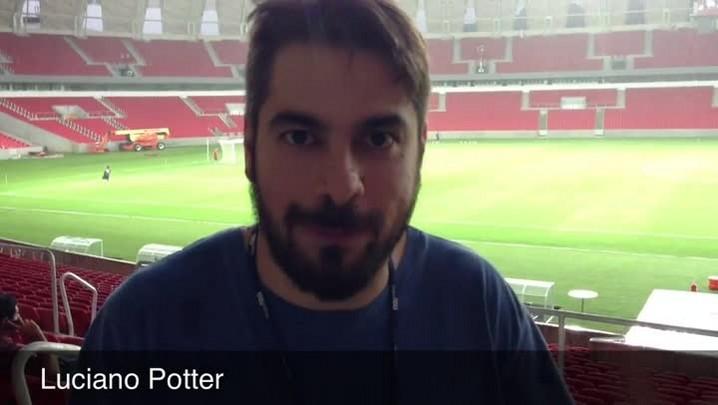Colorado ilustre, Potter conhece o novo Beira-Rio