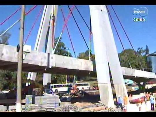 TVCOM 20 Horas - Inauguração do viaduto próximo ao Beira-Rio ainda depende de vistorias de segurança - Bloco 1 - 02/06/2014
