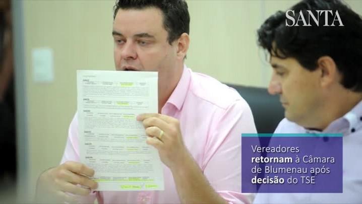 Vereadores retornam à Câmara de Blumenau após decisão do TSE