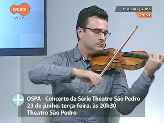 TVCOM Tudo Mais - Violinista Cármelo De Los Santos conta como será a participação em concerto da OSPA