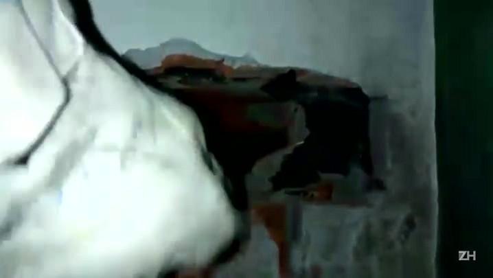 Bombeiros resgatam cãozinho preso em fenda