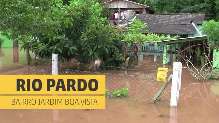 Moradores de Rio Pardo relatam estragos causados pela chuva