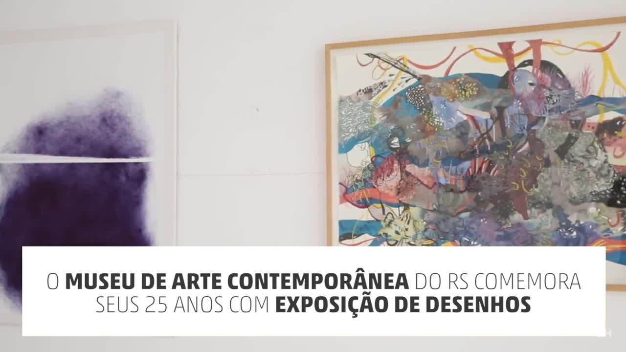 Museu de Arte Contemporânea do RS comemora 25 anos com exposição de desenhos