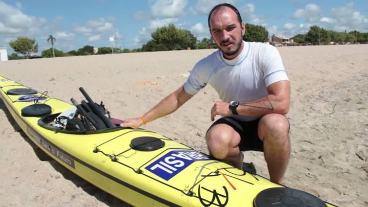 Homem remará do Chuí ao Oiapoque em caiaque oceânico