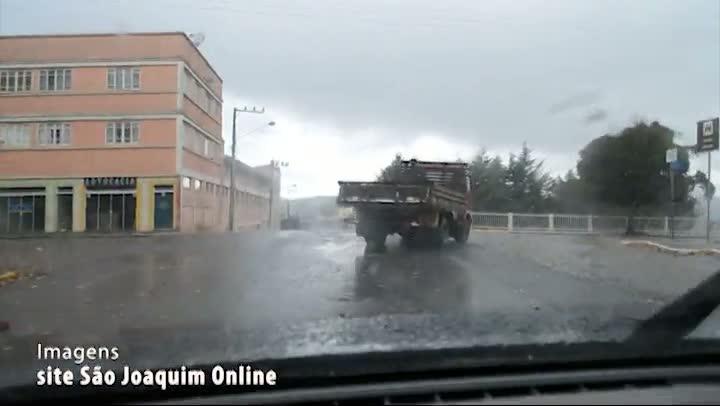 Chuva congelada em São Joaquim