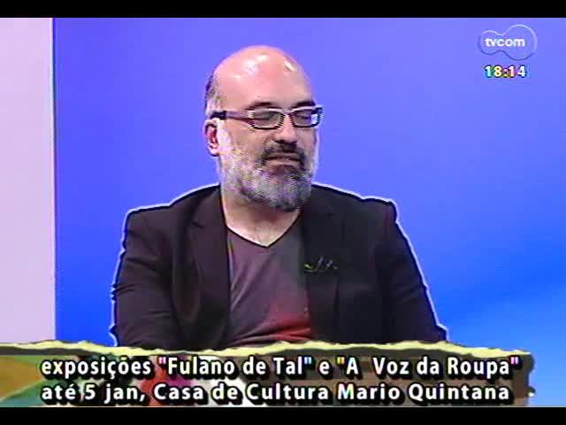 Programa do Roger - Artistas visuais Tiago Coelho e Régis Duarte falam sobre exposições - bloco 3 - 21/11/2013
