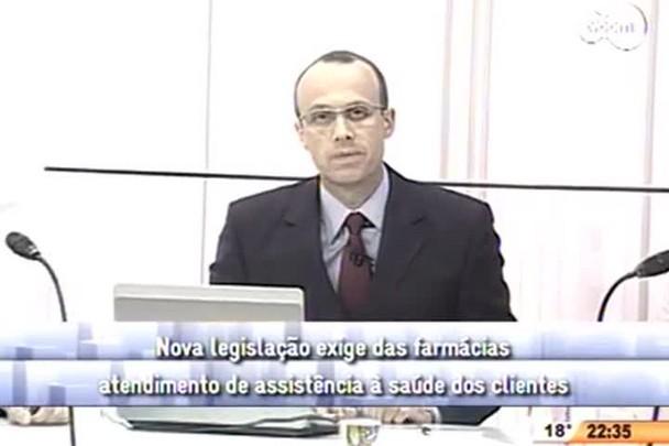 Conversas Cruzadas - Nova legislação exige das farmácias atendimento de assistência à saúde dos clientes - 3º Bloco - 02/09/14