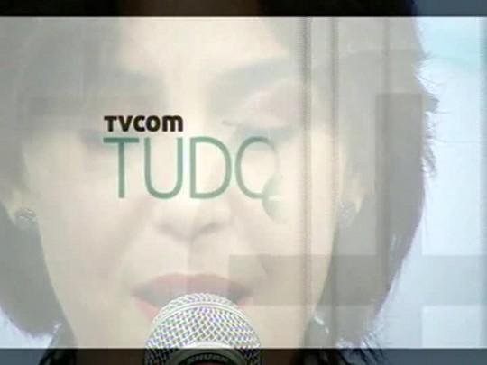 TVCOM Tudo Mais - Adriana Deffenti desfila sua voz no palco do Tudo+