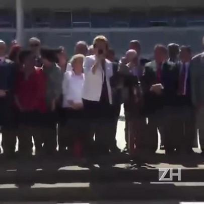 Veja trechos do discurso de Dilma em frente ao Palácio do Planalto