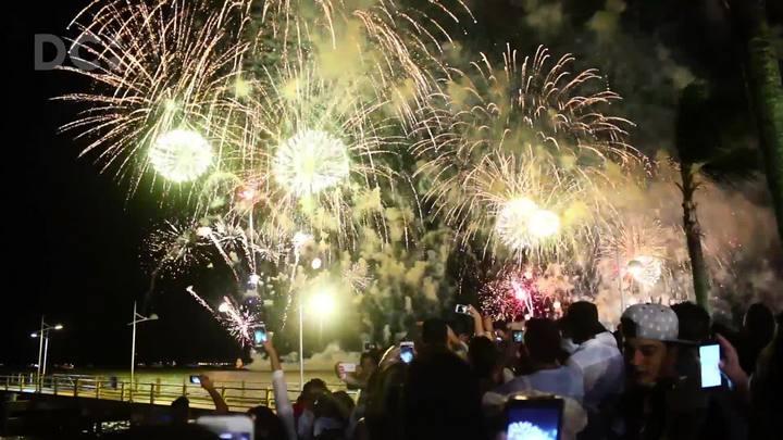 Santa Catarina festeja virada do ano