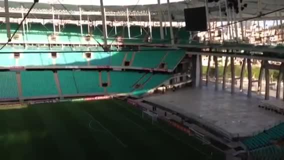 Equipe da Gaúcha já está na Fonte Nova para Bahia e Inter - 19/09/2013