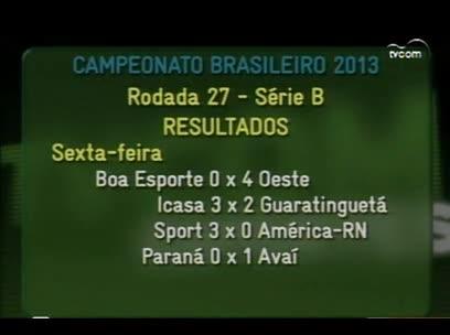 Bola – Empate do Figueirense com o Atlético-GO. – 2º bloco – 06/09/2013