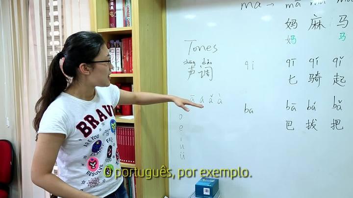 Professora dá dicas de mandarim