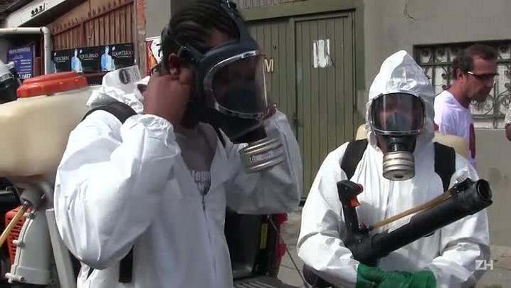 Bairro Santana é pulverizado após suspeita de zika vírus